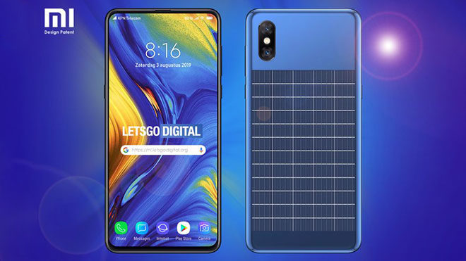 Xiaomi güneş panelli telefon