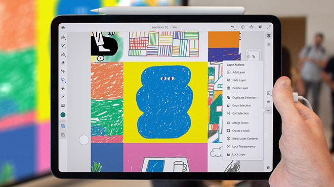 Adobe Fresco iPad çizim uygulaması