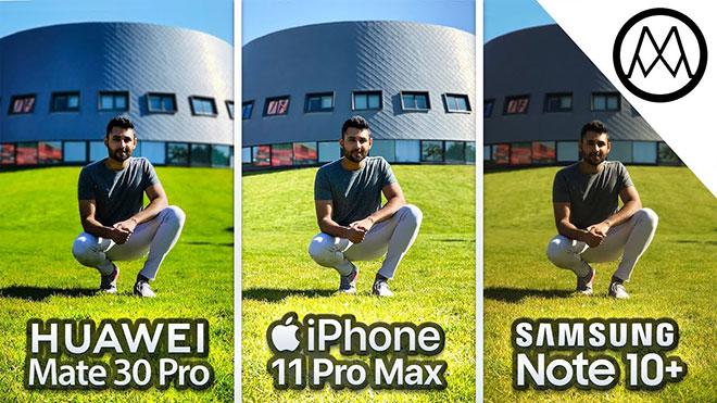 Huawei Mate 30 Pro, iPhone 11 Pro Max ve Samsung Note 10 Plus kamera testinde karşı karşıya [Video]