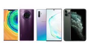Huawei Mate 30 Pro, Samsung Galaxy Note 10 Plus ve iPhone 11 Pro Max karşılaştırması