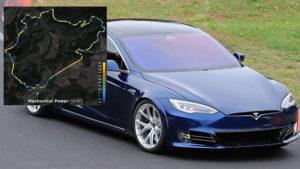 Tesla Model S Nürburgring Porsche Taycan
