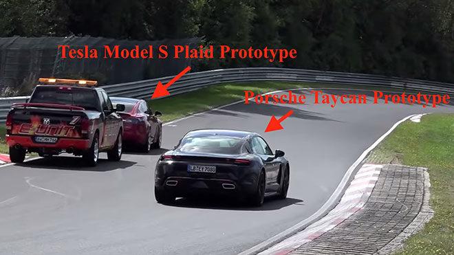 Tesla Model S Porsche Taycan