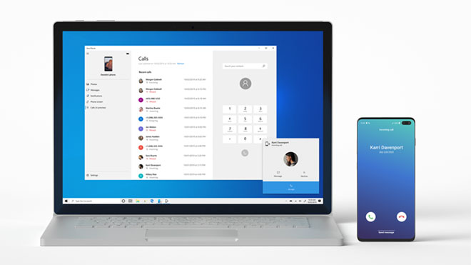 Android Windows 10 Microsoft Your Phone