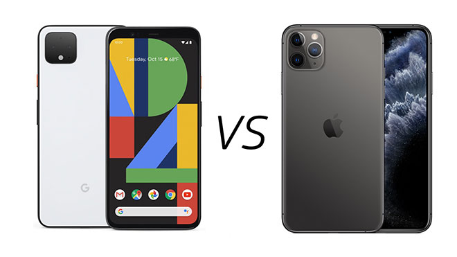iPhone 11 Pro Max Google Pixel 4 XL