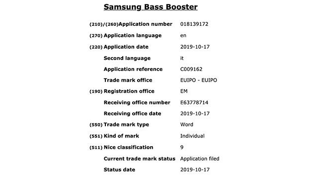 Samsung Bass Booster