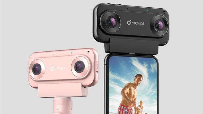 Akıllı telefon ile kullanılabilen Üç boyutlu VR çekimler yapan kamera; üstelik 4K