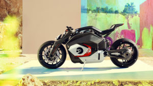 BMW imzalı spor elektrikli motosiklet