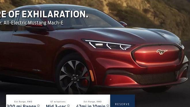 Ford Mustang Mach E elektrikli SUV elektrikli otomobil