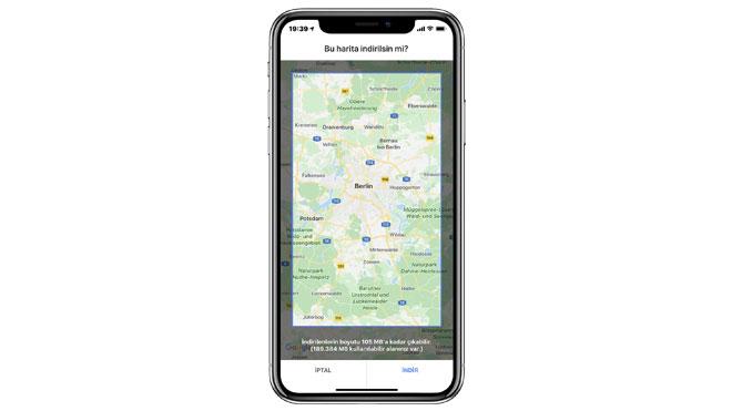 Google Maps çevrim dışı harita