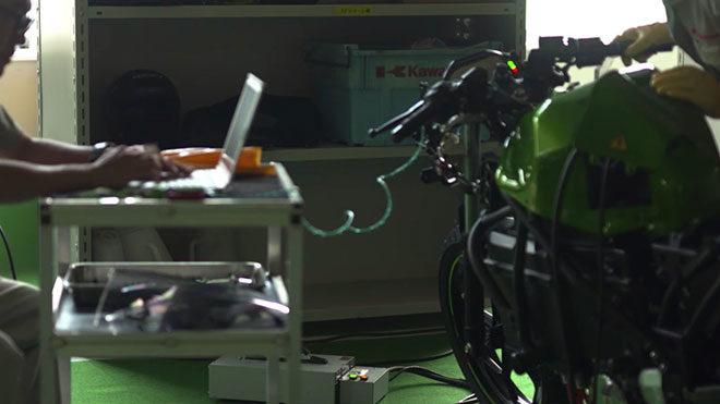 Kawasaki imzalı ilk elektrikli motosiklet