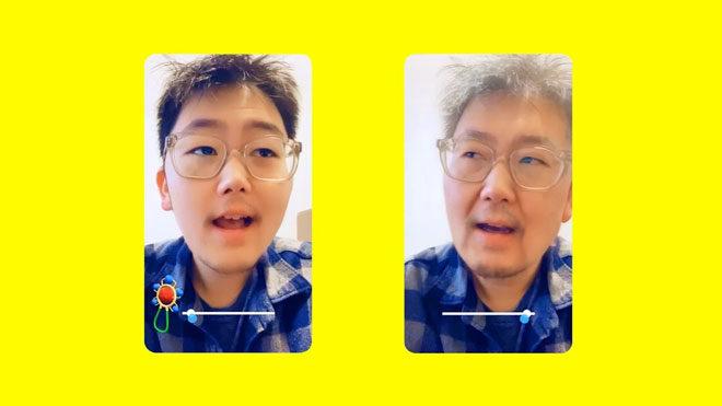 Snapchat yaşlandırma filtresi