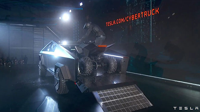Tesla Cybertruck elektrikli pickup Tesla elektrikli ATV