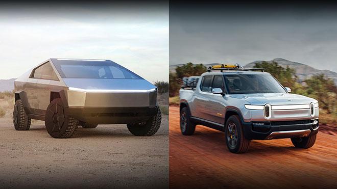 Rivian R1T ve Tesla Cybertruck
