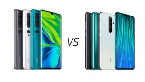 Xiaomi Mi Note 10 vs Redmi Note 8 Pro