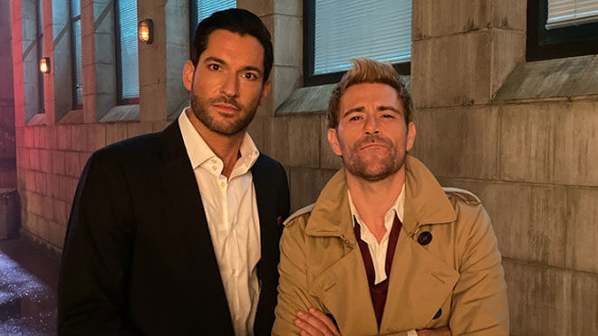Lucifer 5. sezon öncesi Crisis on Infinite Earths setinde Tom Ellis sürprizi