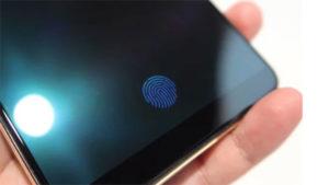 Ekrana entegre parmak izi tarayıcı