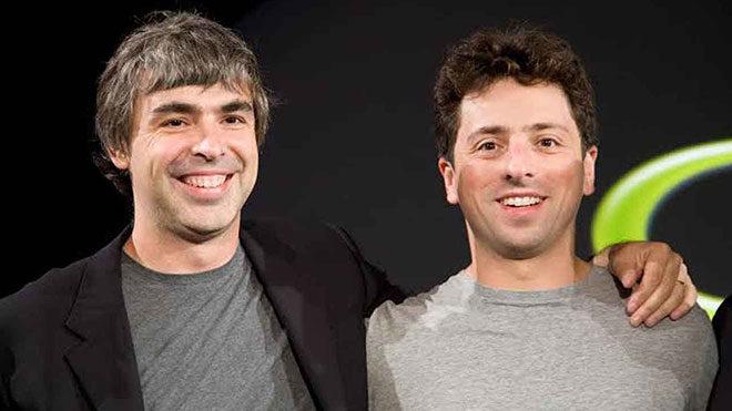 Larry Page ve Sergey BrinGoogle Sundar Pichai