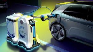 Volkswagen mobil şarj robotu