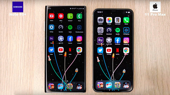 Galaxy Note10+vs iPhone 11 Pro Max