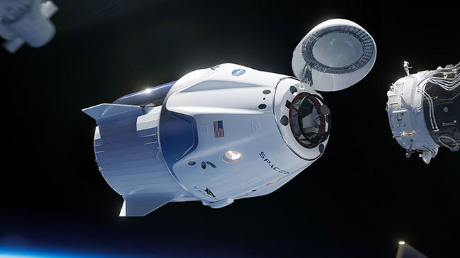 Elon Musk SpaceX Crew Dragon ISS