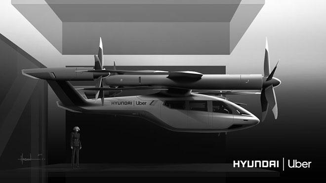 Hyundai uçan taksi uber