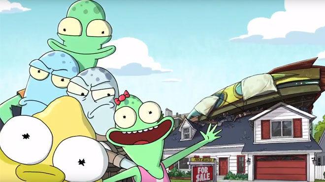 Rick and Morty yaratıcılarının yeni dizisi Solar Opposites için geri sayım