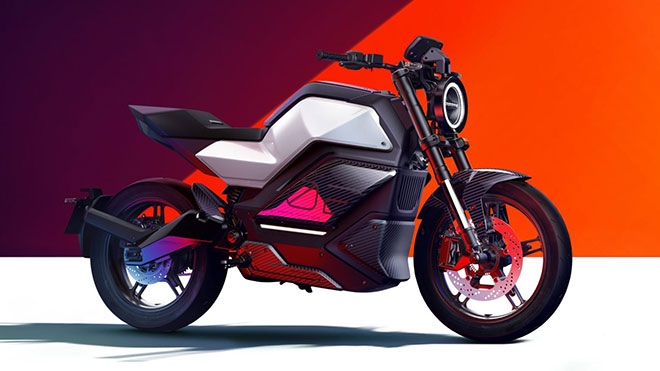 NIU imzalı bir elektrikli motosiklet