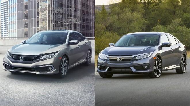 2020 Honda Civic Sedan vs 2019 Honda Civic Sedan