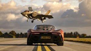 F35 savaş uçağı ile McLaren Speedtail