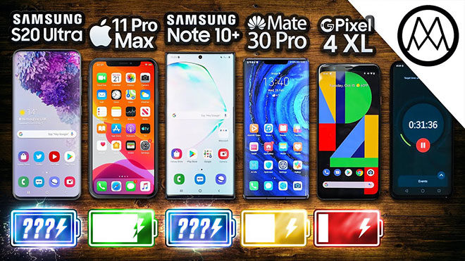 Samsung Galaxy S20 Ultra, Apple iPhone 11 Pro Max, Samsung Galaxy Note 10 Plus ve Huawei Mate 30 Pro