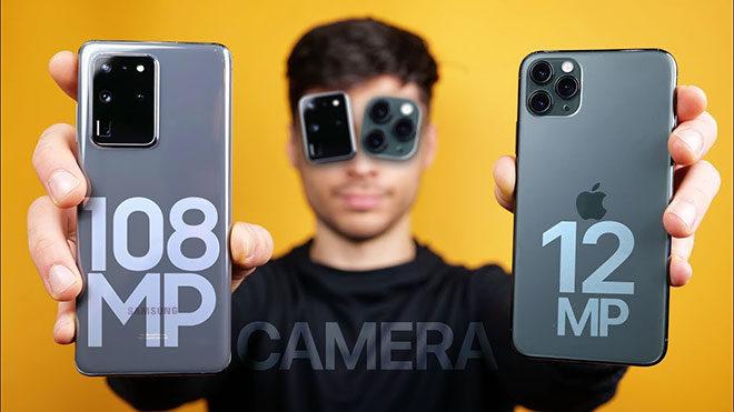 Samsung Galaxy S20 Ultra ve Apple iPhone 11 Pro Max