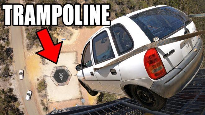 trampolin otomobil