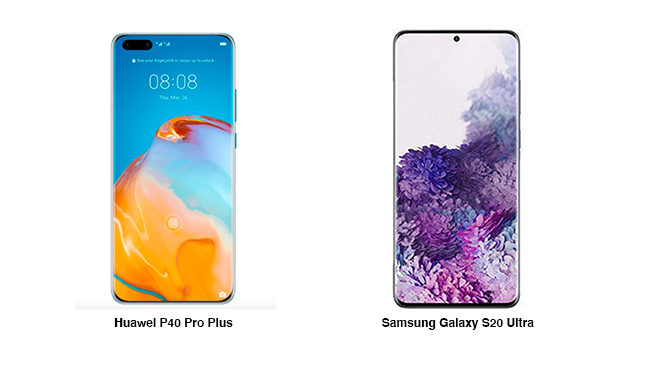 Huawei P40 Pro Plus Samsung Galaxy S20 Ultra