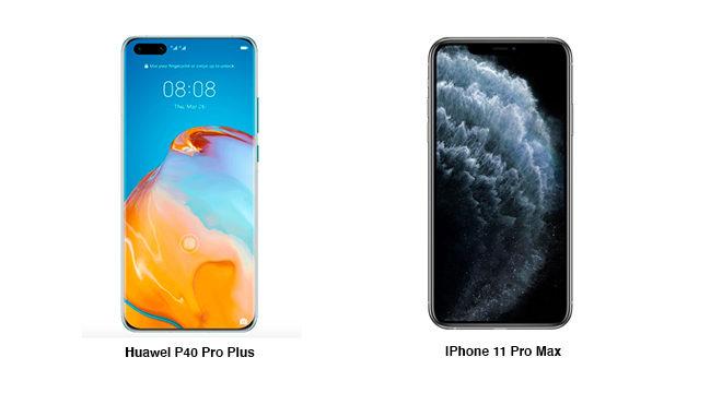 Huawei P40 Pro Plus iPhone 11 Pro Max