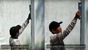 Samsung Galaxy S20 Ultra Nikon P900