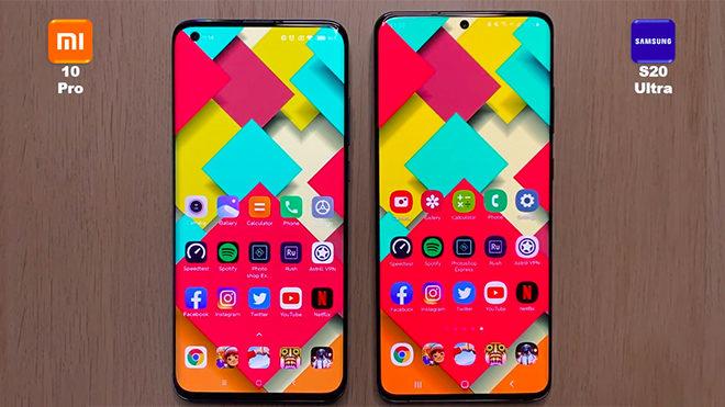 Xiaomi Mi 10 Pro Samsung Galaxy S20 Ultra