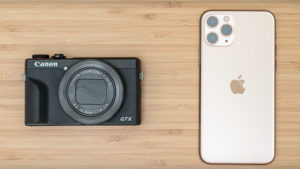 iPhone 11 Pro Canon PowerShot G7X Mark III