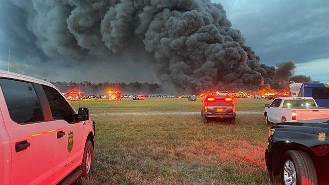yangın araç yandı