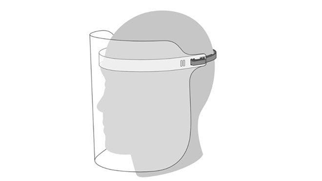 Apple yüz koruma kalkanı koronavirüs