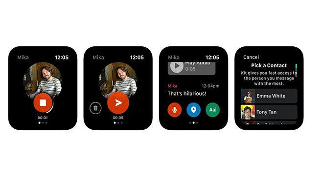 Facebook Messenger Apple Watch Kit uygulaması