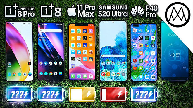 Huawei P40 Pro, OnePlus 8 / 8 Pro, iPhone 11 Pro Max ve Samsung Galaxy S20 Ultra