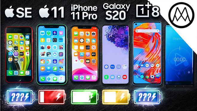 iPhone SE 2020, iPhone 11, iPhone 11 Pro, Samsung Galaxy S20 ve OnePlus 8
