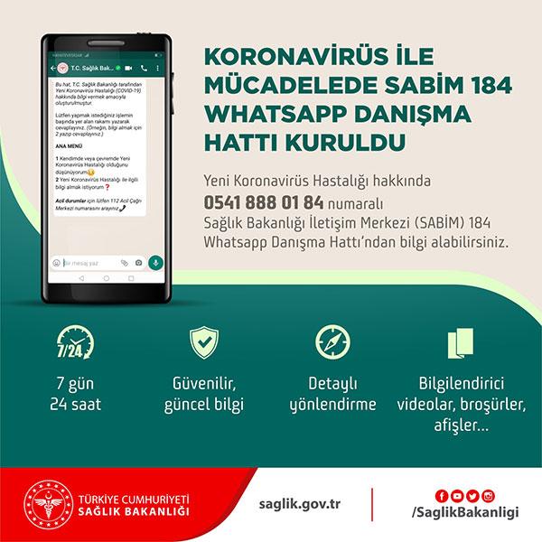 Sağlık Bakanlığı, koronavirüs konusunda WhatsApp Danışma Hattı