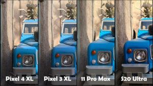 Samsung Galaxy S20 Ultra, Pixel 4, iPhone 11 Pro ve Pixel 3 karşılaştırması [Video]