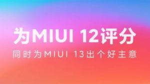 Xiaomi MIUI 12 Xiaomi MIUI 13