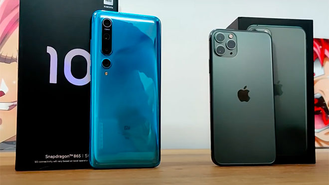 Xiaomi Mi 10 iPhone 11 Pro Max