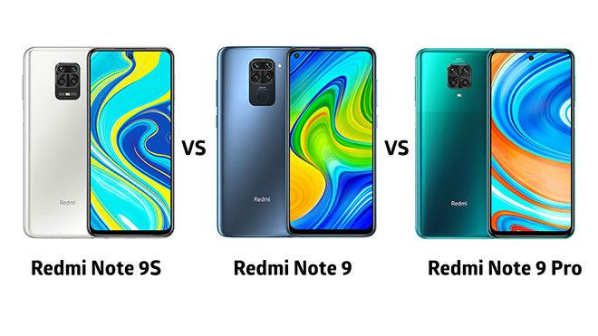 Redmi Note 9, Redmi Note 9 Pro ve Redmi Note 9S karşılaştırması
