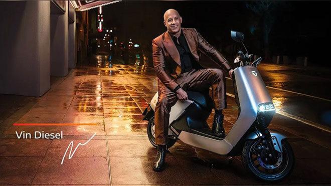 Yadea, Vin Diesel , elektrikli motosiklet