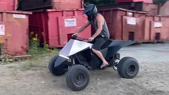 YouTuber kendi Tesla Cyberquad ATV modelini yaptı [Video]