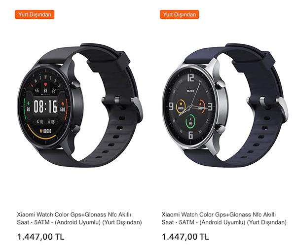 Xiaomi Watch Color akıllı saat Türkiye'de satışta; işte fiyatı